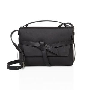 All Saints Black Leather Cami Shoulder Bag